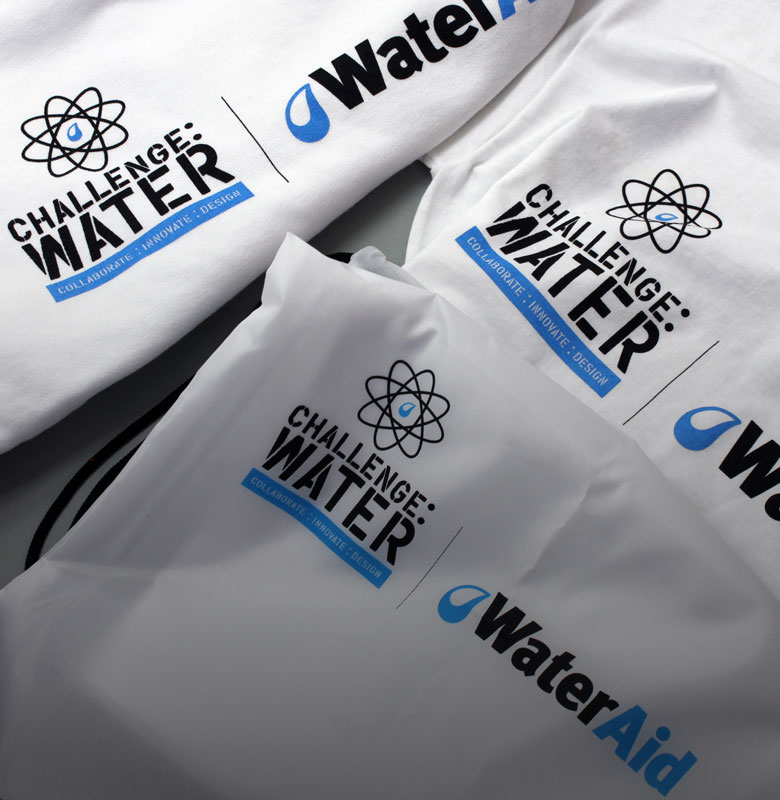 Challenge Water branding and materials
