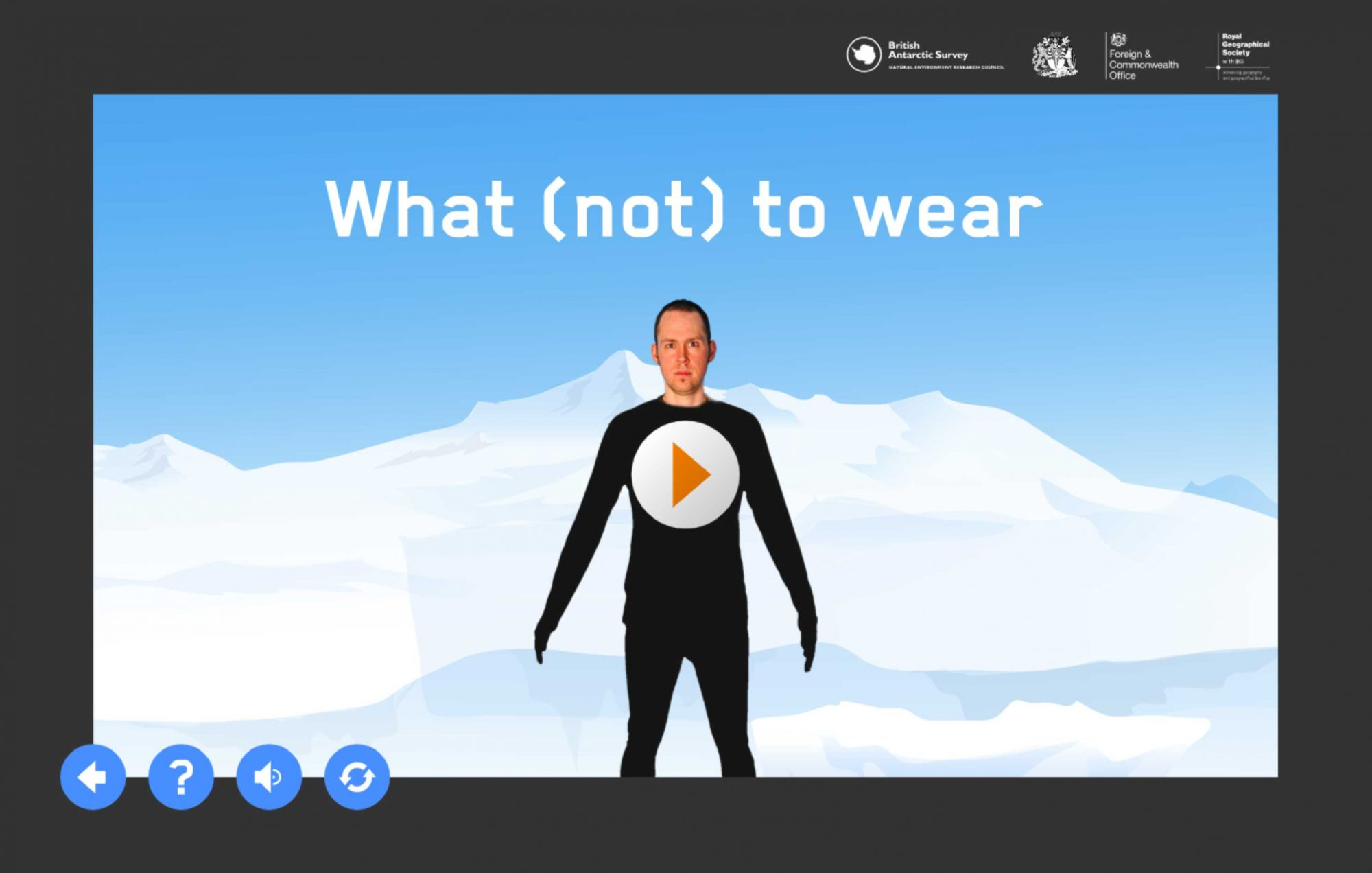 What not to wear activity intro screen