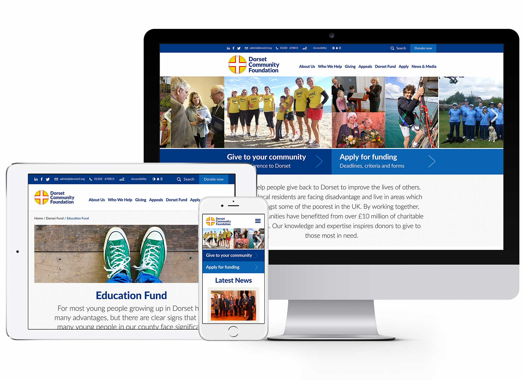 Brand refresh featured on Dorset Community Foundation website redesign