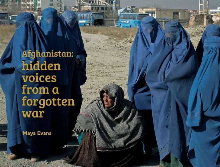 "'Hidden Voices: Afghanistan"" Book cover"
