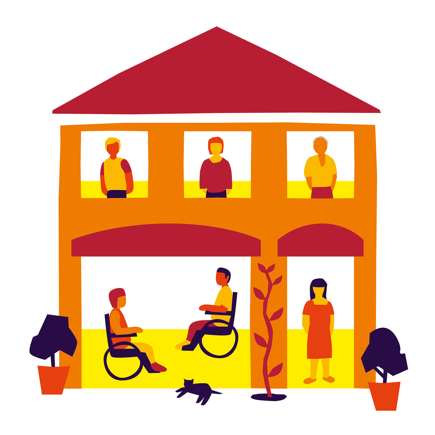 Housing support illustration for Leonard Cheshire