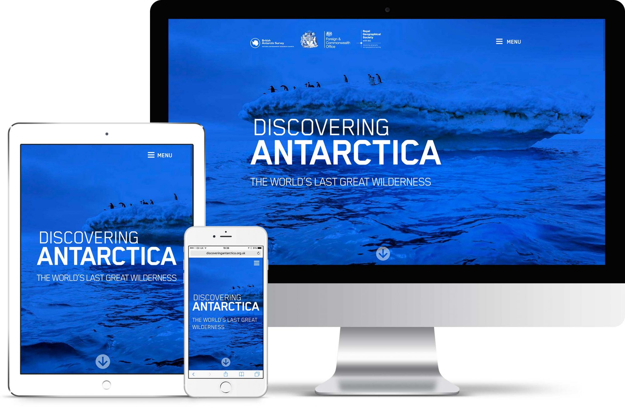 View of Discovering Antarctica on various screens