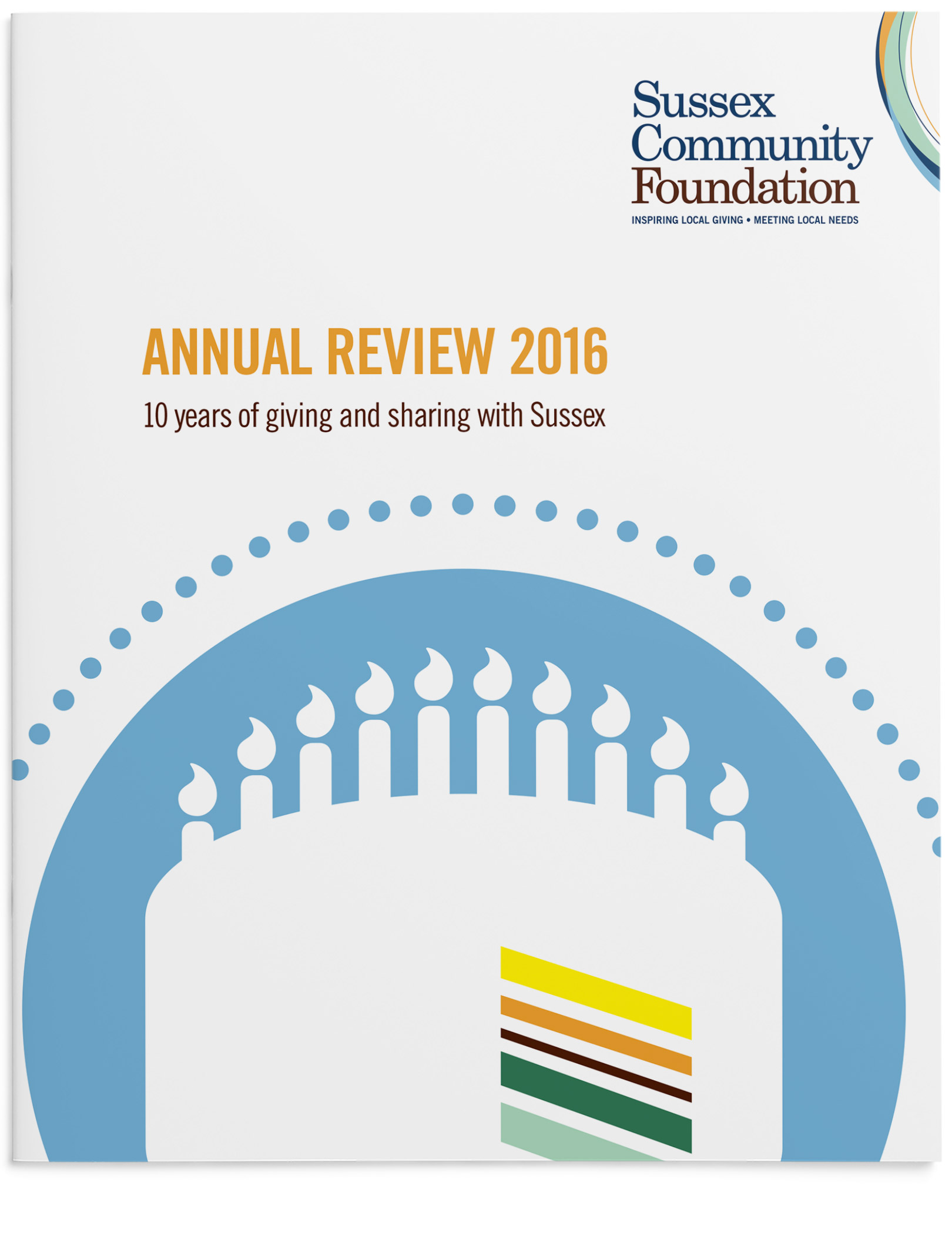 Annual review cover design