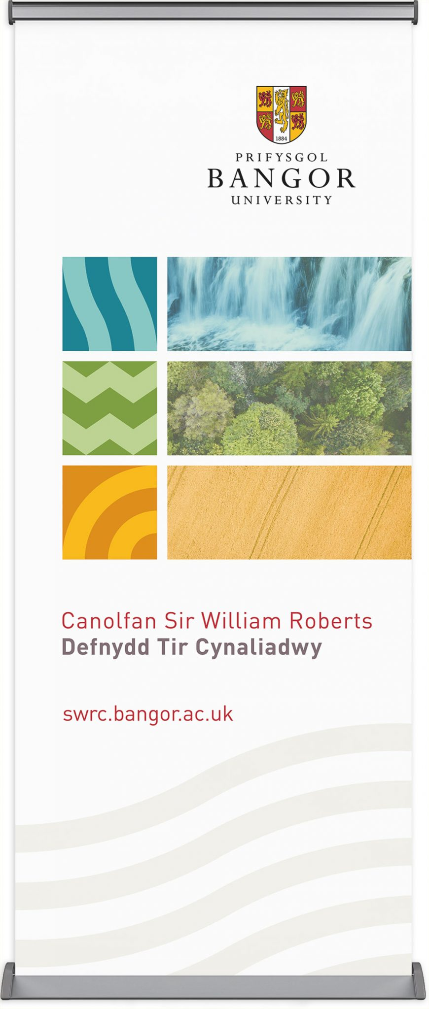 Welsh banner for the Centre for Sustainable Land Use, Bangor University