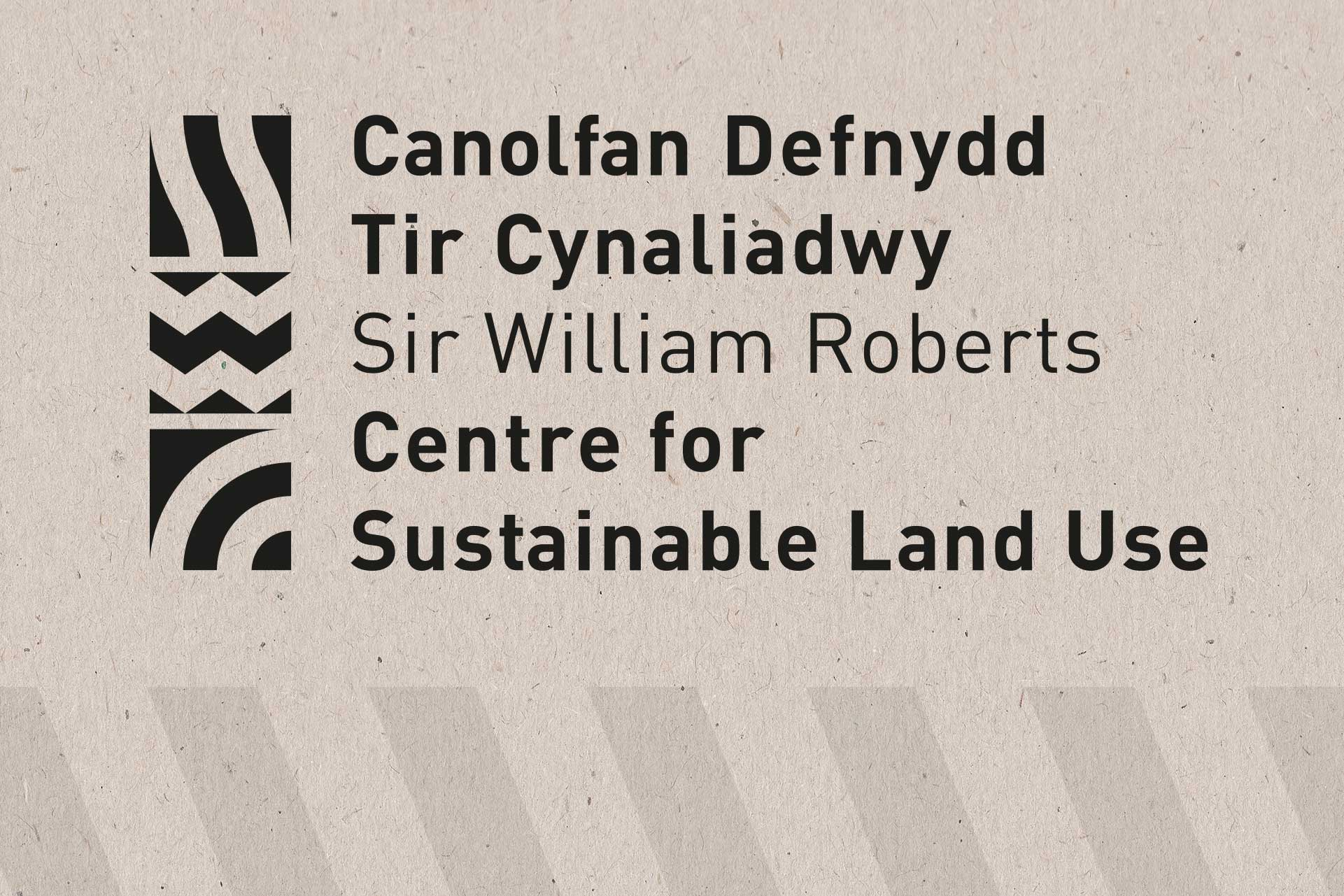 Logo for the Centre for Sustainable Land Use, Bangor University (mono)