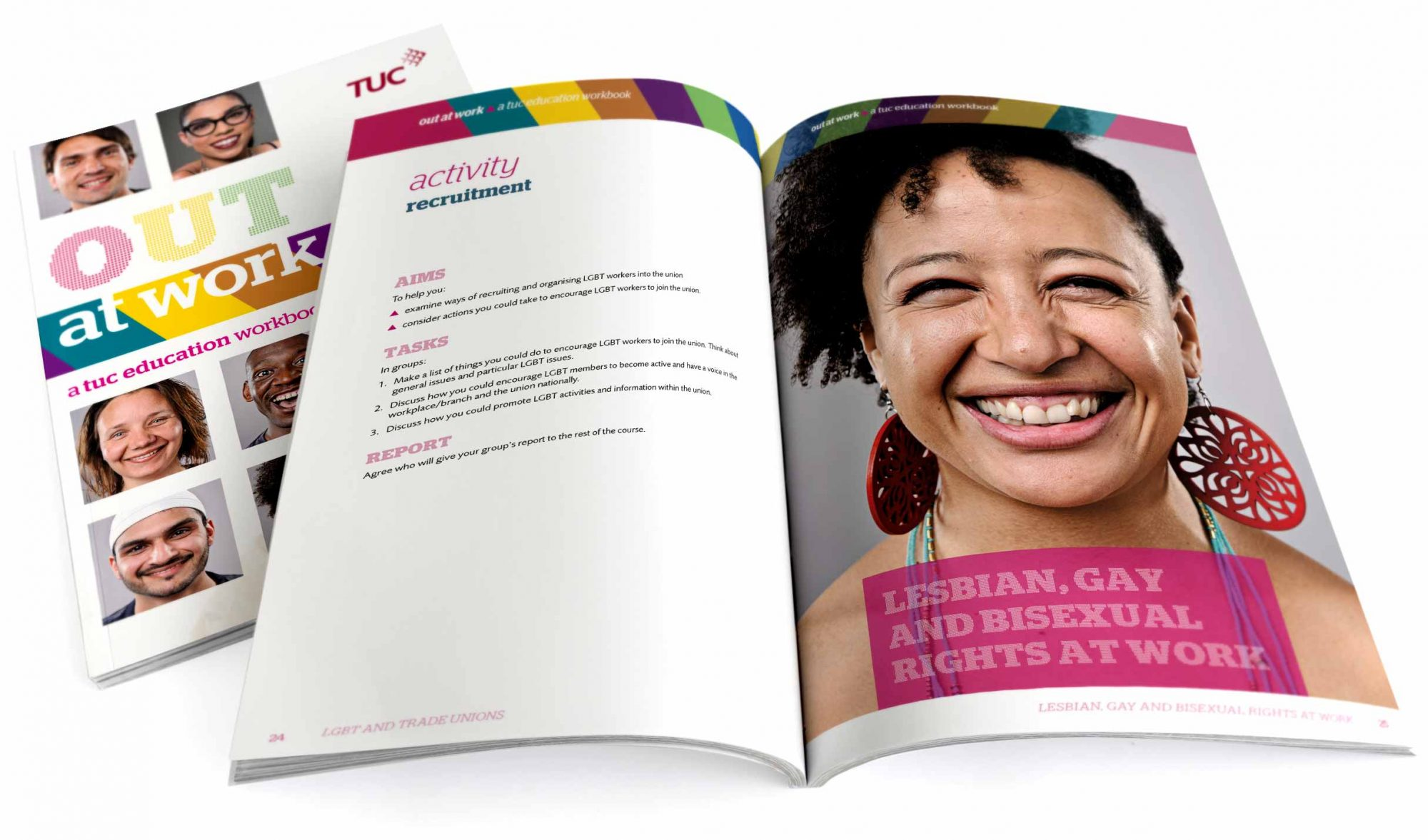 TUC workbook cover and spread