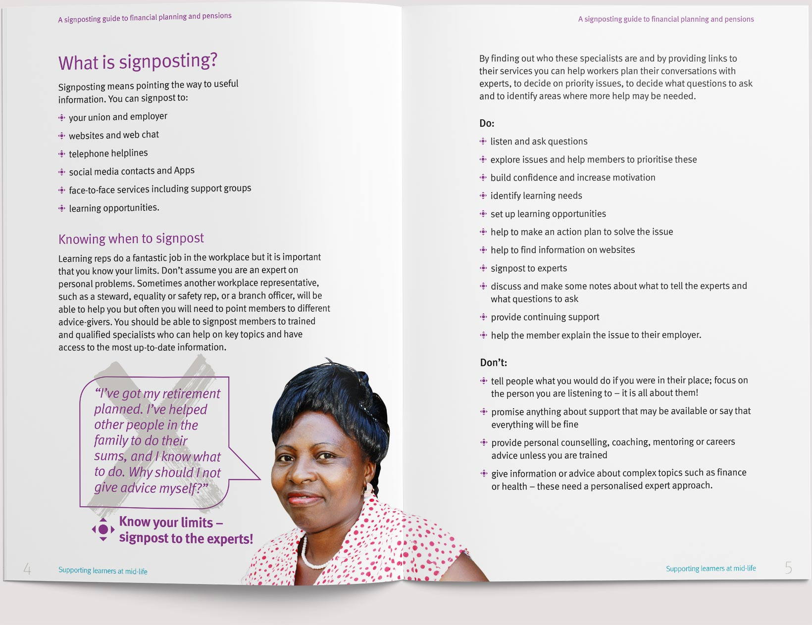 A double page spread of a booklet