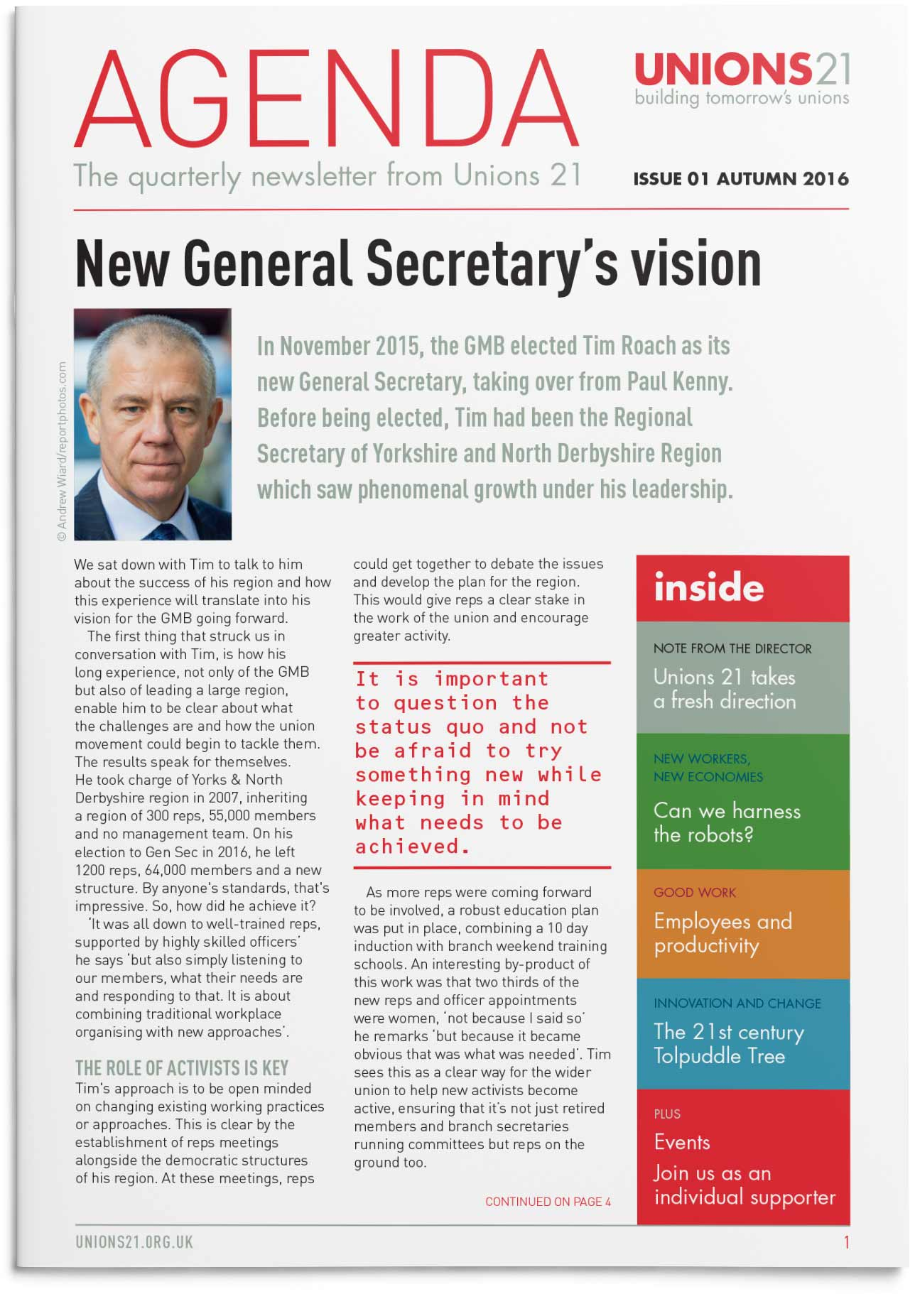 Cover of a newsletter