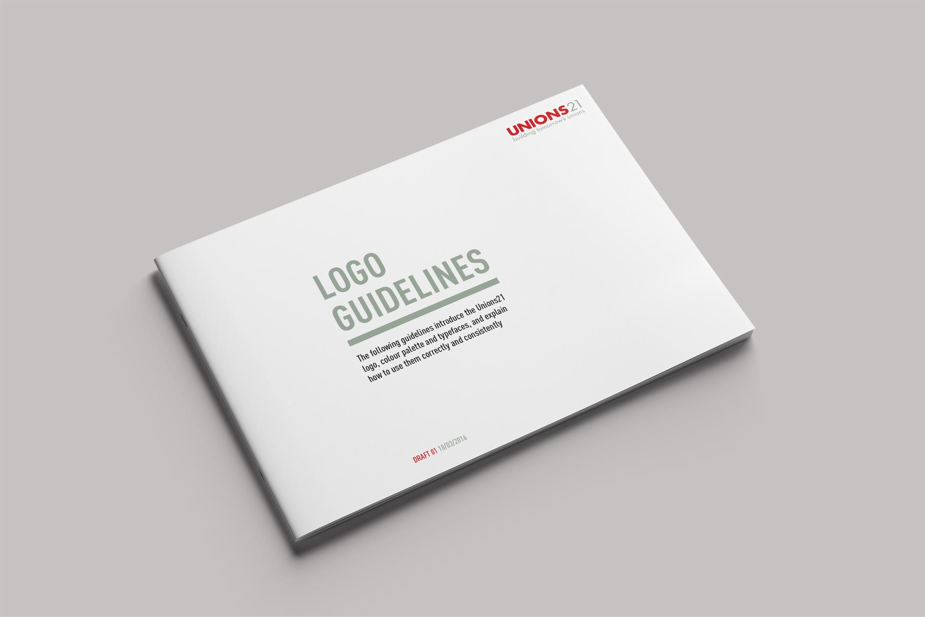 cover of brand guidelines docuemnt