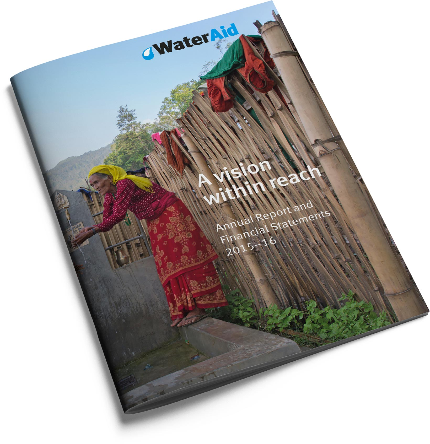 WaterAid annual review 2015 cover