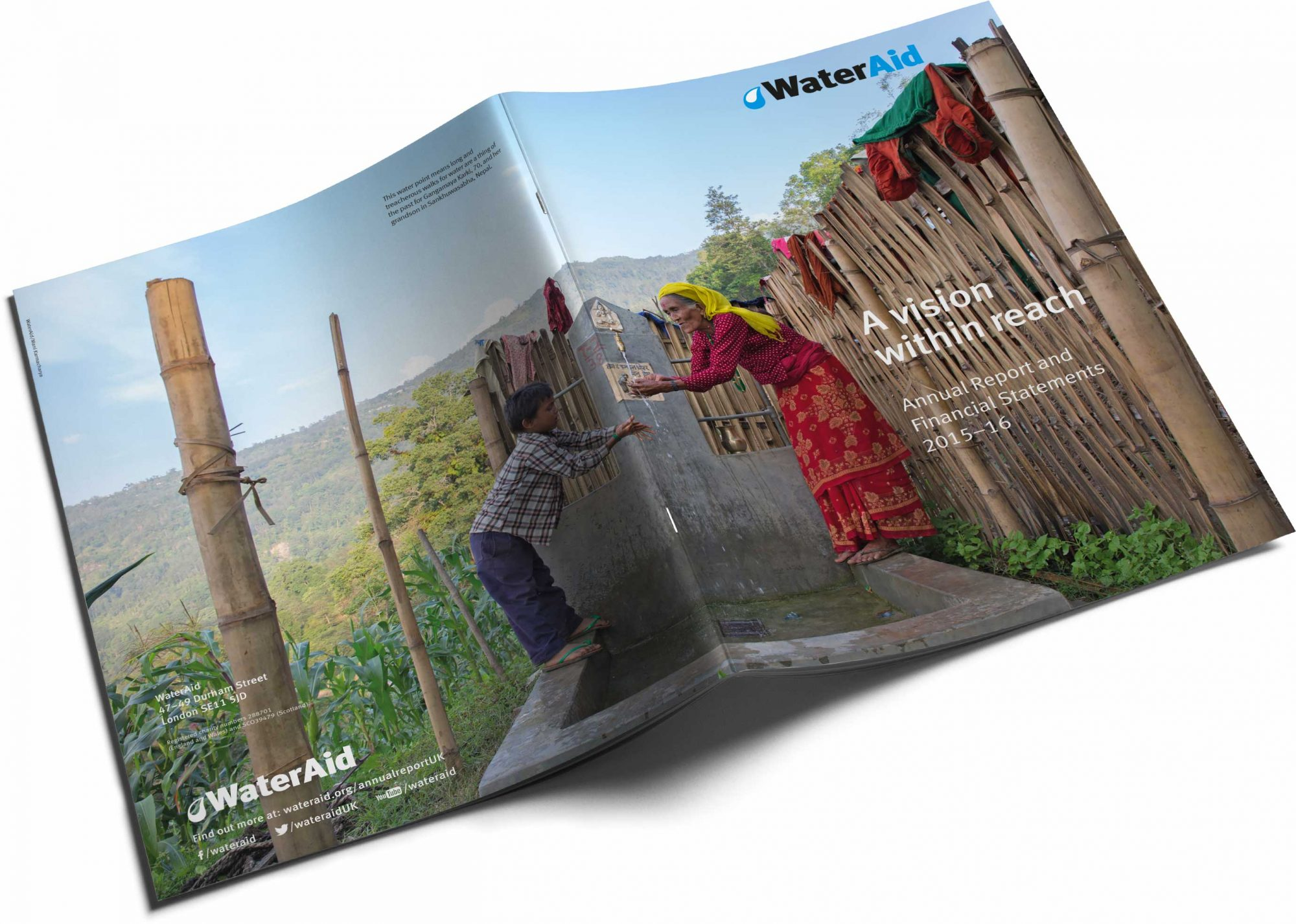WaterAid front and back cover